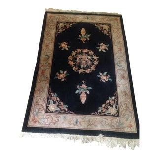 Asian Wool Rug - 4 x 6