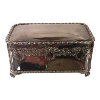 Antique Pairpoint Silverplate Dresser Box