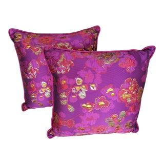Samurai Bloom Pillows - A Pair