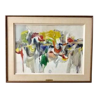 1970 Goldblatt Large Vintage Mid-Century Modern Abstract Painting