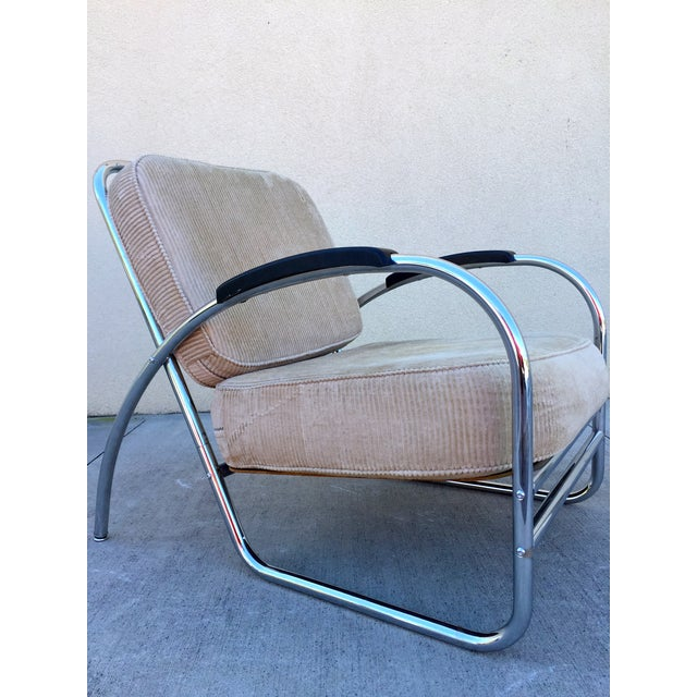 Kem Weber Style Deco Chrome Chair by Royal Metal - Image 4 of 11