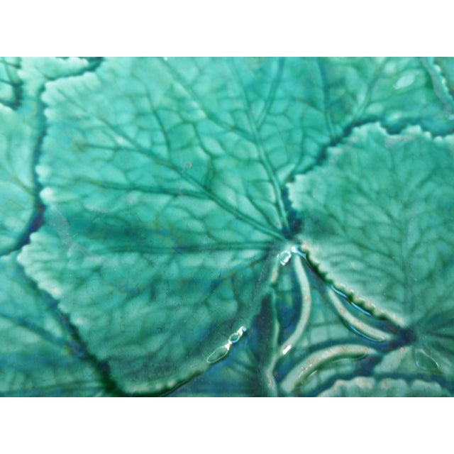 Victorian Green Ivy Majolica Plates - Set of 6 - Image 4 of 5