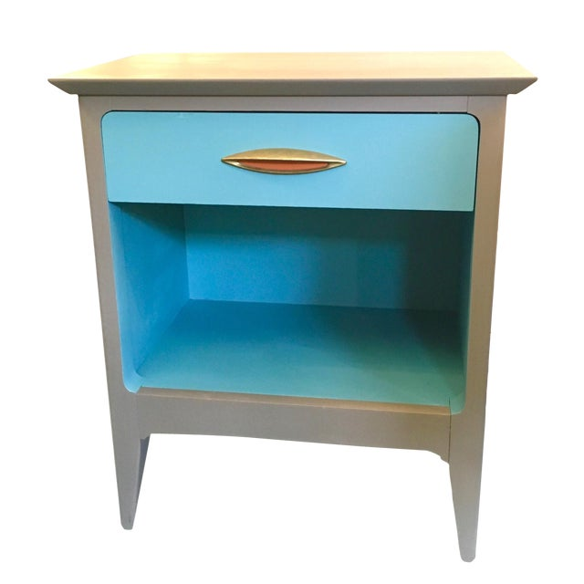 Image of Mid Century Modern Color Blocked Side Table