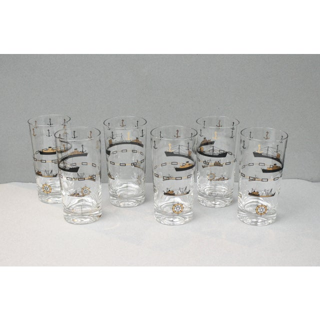 Image of Nautical Gold Cocktail Glasses - Set of 6