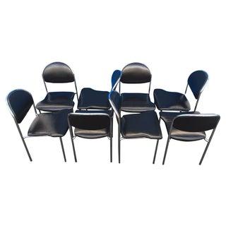 Thonet Chrome Black Modern Dining Chair - Set of 8