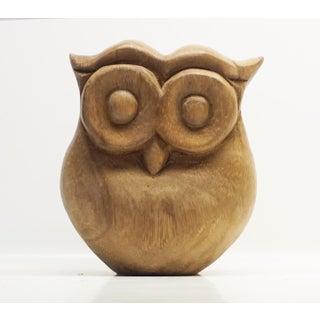 Fat Wooden Owl