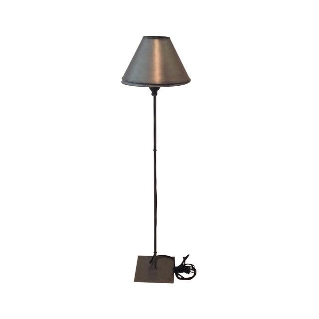 Industrial metal designer table accent lamp chairish for Industrial design table lamps