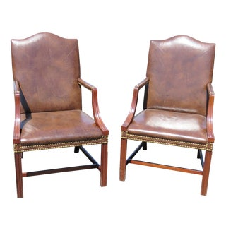 Directoire Style Arm Chairs- A Pair