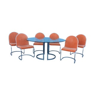 Pierre Cardin for Dillingham Chrome Dining Set