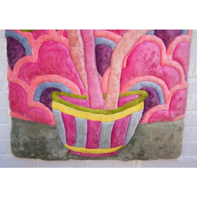 Modern Velvet Wall Sculpture by Bill Godfrey - Image 4 of 10