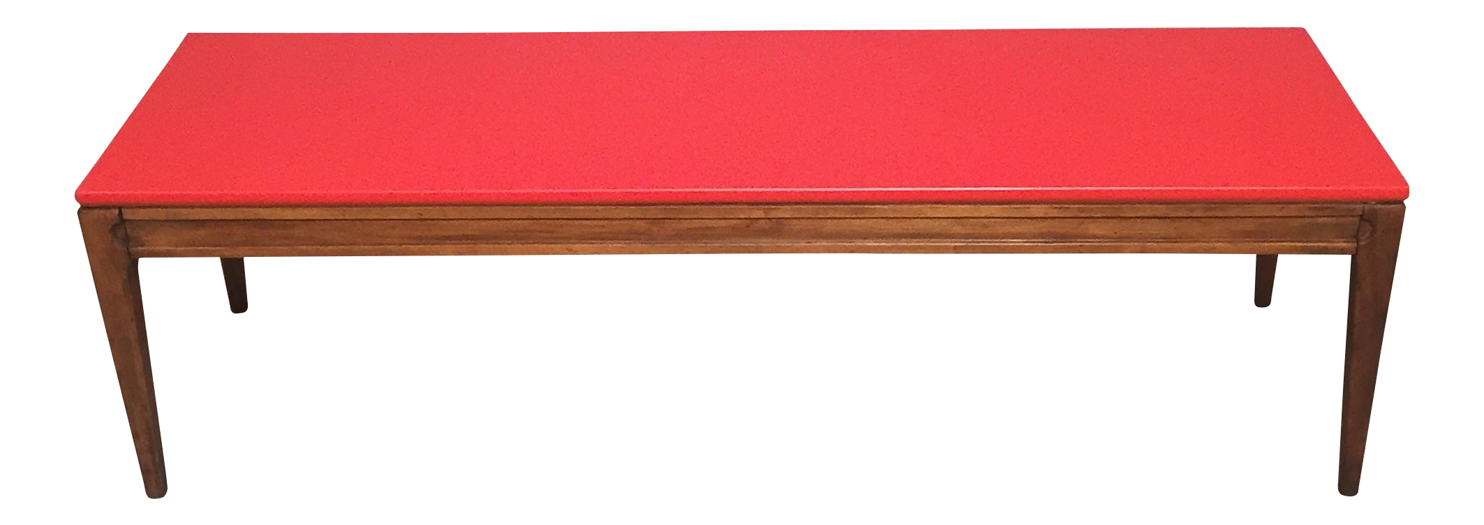 Mid Century Modern Red Coffee Table