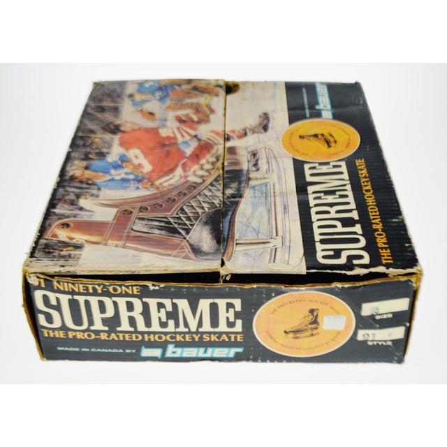 Vintage 1960's Bauer Hockey Skates Box and Skates - Image 7 of 10
