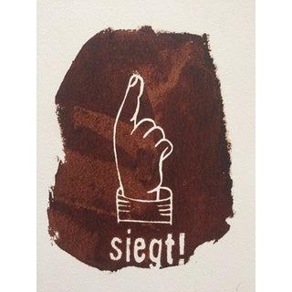"""Original Dada """"Siegt"""" Artist's Print"""
