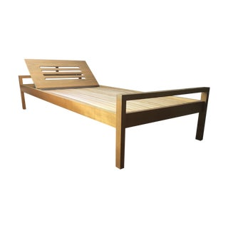 Holma of Switzerland 1970's Modern Oak Daybed