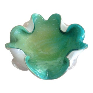 Italian Murano Glass Freeform Dish