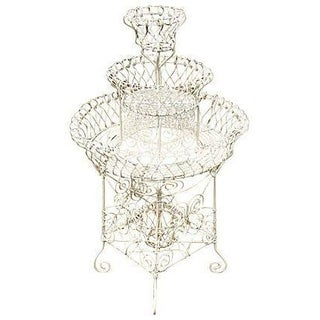 Antique French Wire Plant Stand