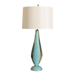Salviati Blue Murano Lamp