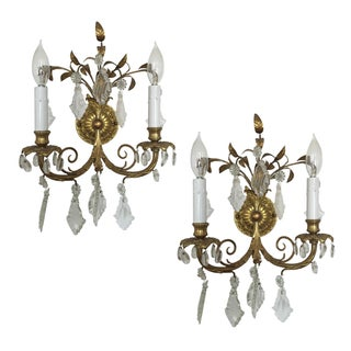Antique French Wall Sconces - A Pair