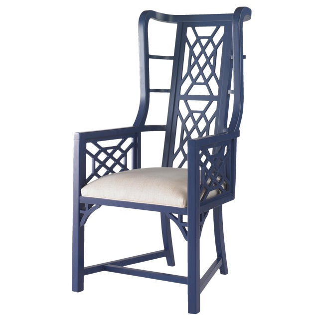 Taylor Burke Home Fretwork Accent Chairs - A Pair - Image 1 of 2