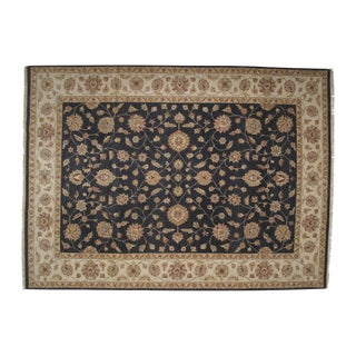 "Black & Tan Zeigler Carpet - 12'2"" X 9'"