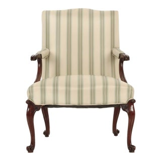 18th Century English Chippendale Mahogany Antique Lounge Chair