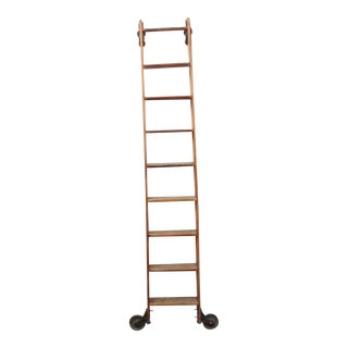 Antique Original American Library Ladder