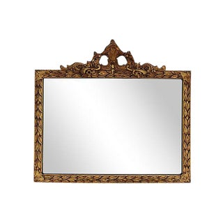 Large 1930s Ornate Gold Gilt Acanthus Leaf Wall Mirror