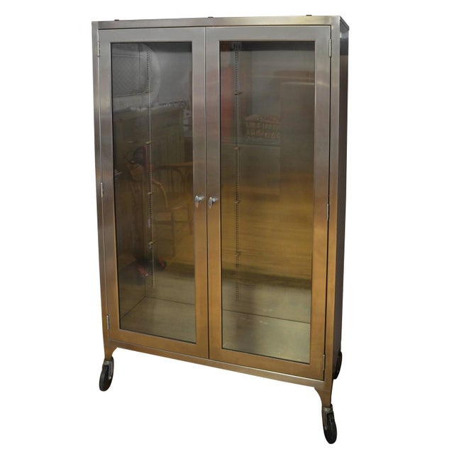 Image of Lighted Two-Door Dental Apothecary Lab Cabinet