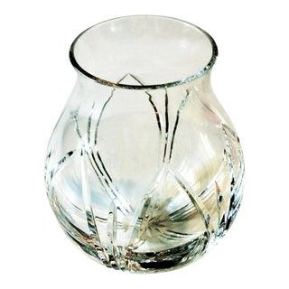 "Cut Crystal ""Ball"" Shaped Vase"