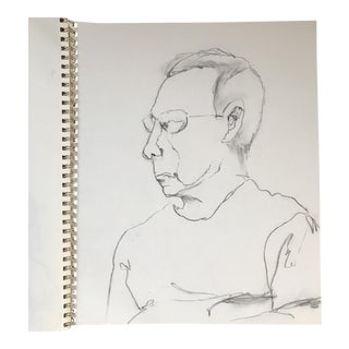 Portrait of a Man Drawing