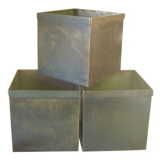 Medium Steel Storage Box - Set of 6