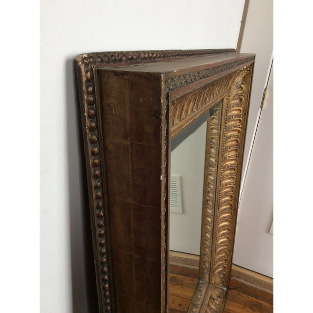 Antique Framed Carved Wood Mirror - Image 8 of 9