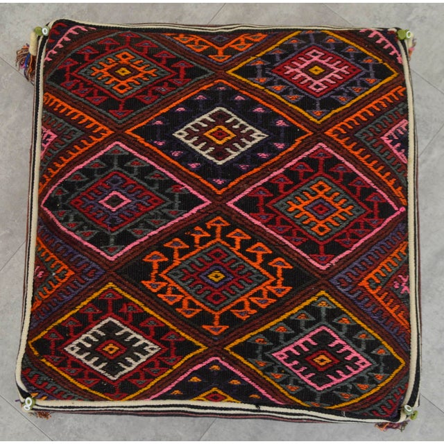 Turkish Kilim Floor Pillow : Turkish Kilim Rug Sitting Cushion Floor Pillow - 25? X 25? Chairish