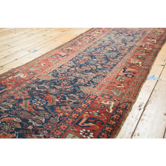 "Antique Kurdish Bidjar Rug Runner - 3'7"" X 13'10"" - Image 7 of 7"