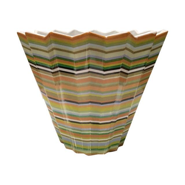 Fabienne Jouvin Paris Chevron Decorative Bowl - Image 1 of 6