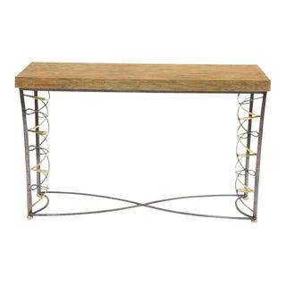 Sarreid Ltd. Metal & Oak Lace Console Table