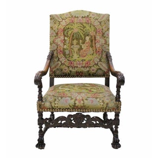 Needlepoint Throne Chair