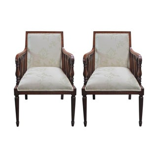 1920s English Mahogany Armchairs - A Pair