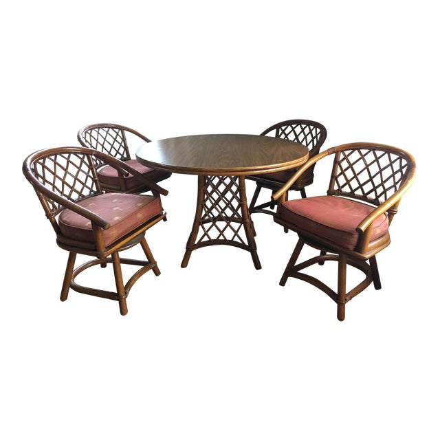 Ficks Reed Dining Set (Table + 4 Chairs) - Image 1 of 7