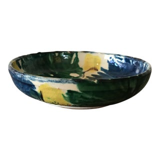 Vintage Mexican Pottery Decorative Bowl