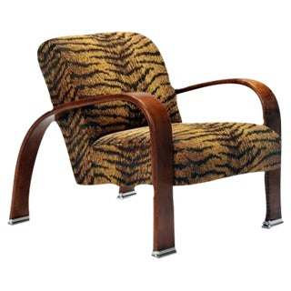 Tiger Print Lounge Chair