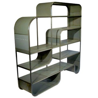 Hand Fabricated Bookcase From Reclaimed Steel by Midwestern Artist