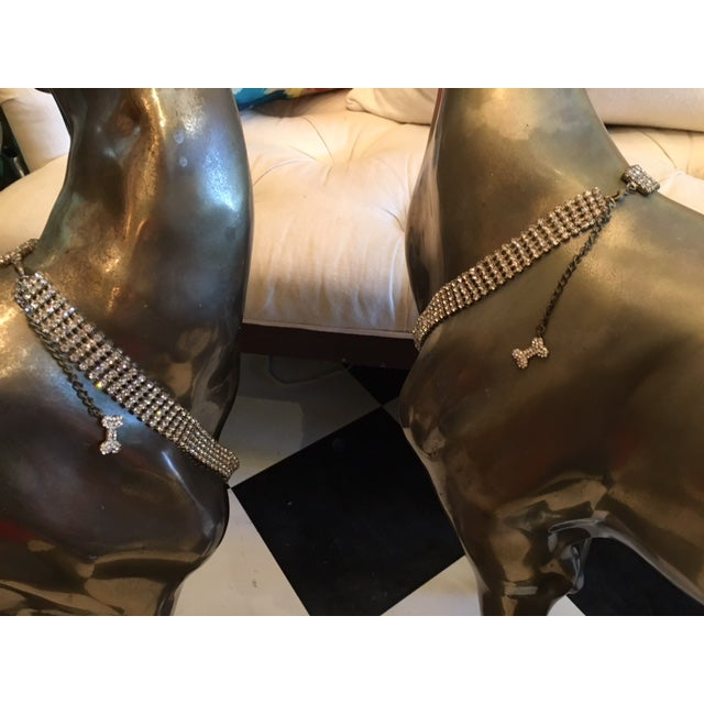 Image of Life-Sized Brass Greyhounds - A Pair