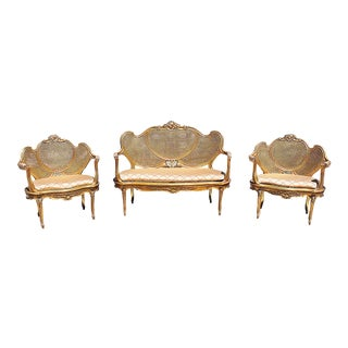Gilt Rococo Salon Set - Set of 3