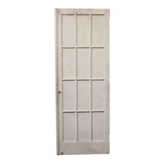 Antique Salvaged Antique White 12 Glass Panel French Door