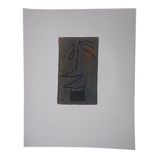 Large Mid 20th C. Ltd. Ed. Miro Lithograph