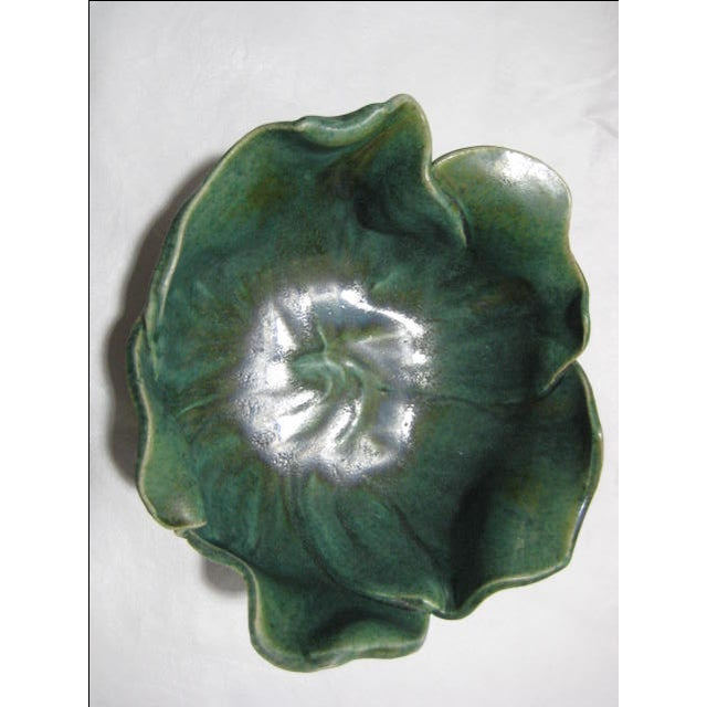 Handmade Vintage Flower Form Art/Pottery Bowl - Image 6 of 9