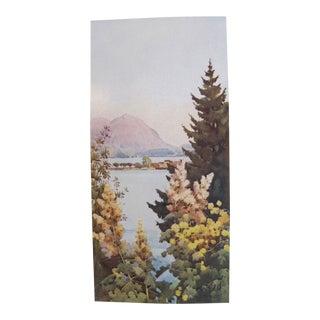 1905 Ella du Cane Print, A Garden, Lago di Como