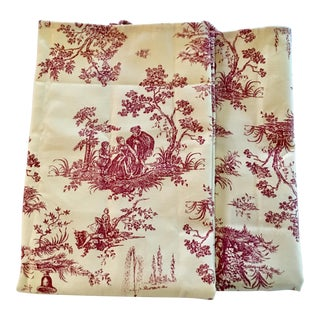 French Provincial Red & White Tea Towels - A Pair