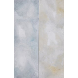 Heavenly-Abstract Ethereal Diptych Painting - 2